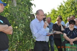 Krzysztof Zachaj omówił program nawożenia wprowadzony na plantacji
